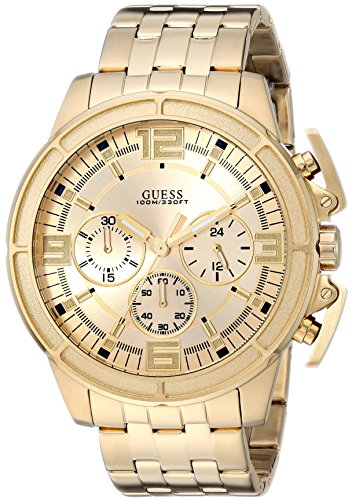 GUESS Men's Stainless Steel Bracelet Watch, Color: Gold-Tone (Model: U1114G2)