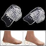 Ericotry 5-lagige Silikon-Ferseneinlage, Einlegesohlen, erhöht die Füße im Schuh, verstellbare Höhe, Schuheinlagen, gepolstert, für Männer und Frauen