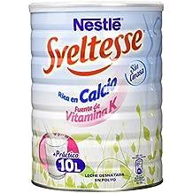 NESTLÉ SVELTESSE Leche en Polvo Desnatada Vitaminada Lata - Paquete de 1 kg - Total: