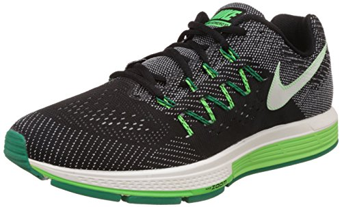 Nike Air Zoom Vomero 10, Chaussures de Running Compétition Homme Negro / Verde / Blanco (Black / Sail-Lcd Green-Vltg Grn)