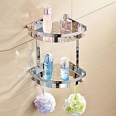 Acciaio inossidabile 304 doccia mensola Mensola ad angolo angolo bagno ripiani bagno Mensola ad angolo per il montaggio a parete del triangolo cestello ripiano