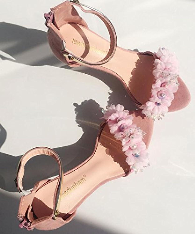 VIVIOO Prom Sandals Summer Flower Flower Flower Bride scarpe Ultra Fine Sequins Diamond Wedding With High-Heeled Sandals For... | Un equilibrio tra robustezza e durezza  77f373