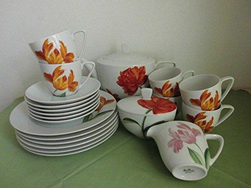 Rosenthal Cora Springtime - Kaffeeservice 6 Personen 21 teilig