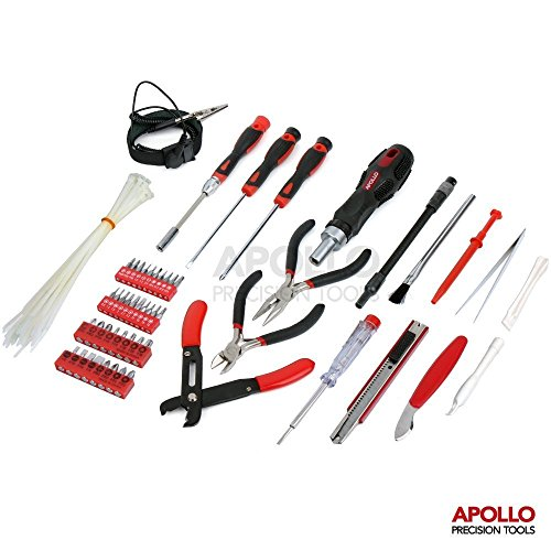 apollo precision tools Apollo 73 Piece Professional Computer, Tablet and Mobile Phone Maintenance Repair Tool Kit in Zipper Storage Case