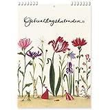 Geburtstagskalender A6 Blumengarten