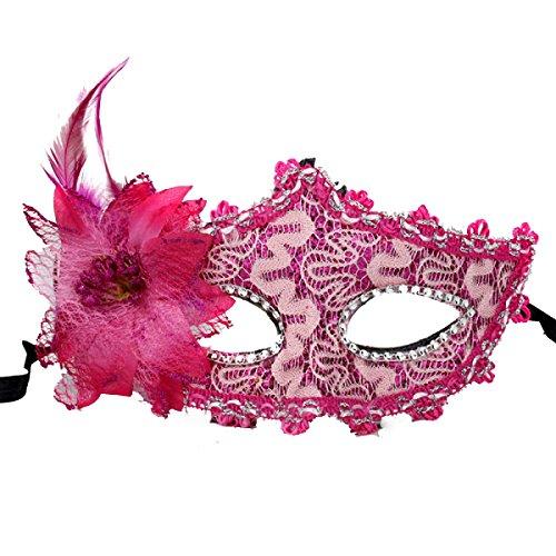 Pink Maske Lace (Frauen-Metall-filigraner Laser-Schnitt-venezianischer)