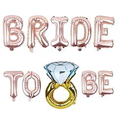Idea Regalo - Ouinne Bride to be Addio al Nubilato Palloncini Foil Bride Hen Party Sposa Da Essere Balloons per un Party Notturno di Gallina Confezione