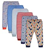 #10: Mini Cult Baby's Cotton Pajama Pants with Rib, 18-24 months(Multicolour, CRPS001) - Pack of 6