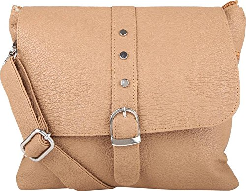 Typify Women's Multi Color Sling Cross Body bag (Tan)  available at amazon for Rs.299