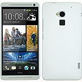 Funda Rígida para HTC One Max - goma blanco - Cover PhoneNatic Cubierta + protector de pantalla