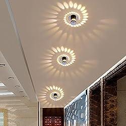 3W LED Eclairage Encastré Cadre et Lampe LED Downlight Lampe Intégrée Spots de Plafond Applique Murale Rond Ø5.5CM Aluminium