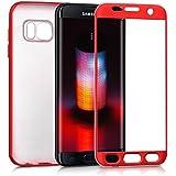 kwmobile housse pour Samsung Galaxy S7 edge - étui complet pour le portable housse de protection TPU silicone - coque arrière rouge foncé métallique