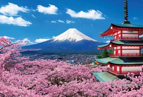 Sengen Shrine 51-110 floraison des fleurs de de de cerisier et Fuji 1000 pices (japon importation) | Formes élégantes  1caded