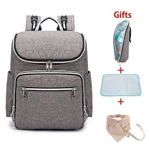 Bebé bolsa Mochila Pañales Cambiador Pañales pañal mochila impermeable aislamiento capacidad grande viaje bolsa bolsa almacenamiento pañalera,mochila para pañales y biberones(Pañales Mochila)