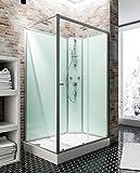 Schulte 4060991009921 Cabine de douche, Vert D'eau, 140 x 90 cm