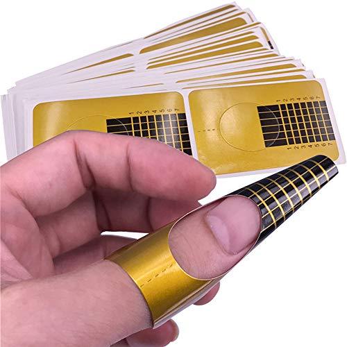 hahuha Toy  Dekompressionsspielzeug,10 Stücke Nail Art Tipps Erweiterung Forms Guide Französisch DIY Werkzeug Acryl UV Gel -