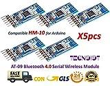 5 stücke AT-09 Bluetooth 4,0 Modul BLE CC2540 Transceiver CC2541 HM-10 MLT-BT05 | 5pcs AT-09 Bluetooth 4.0 BLE CC2540 CC2541 Serial Wireless Module Compatible with HM-10 Arduino