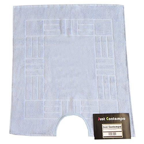 Just Contempo Super Soft–Alfombra de baño (100% algodón egipcio lavable, algodón, azul, 60 x 50 x 1 cm