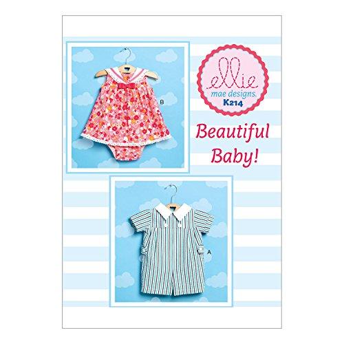 Kwik Sew Mustern k0214os Baby Strampler/Kleid und Höschen, Größen XS–X-Large (Gesammelt Taille Rock)