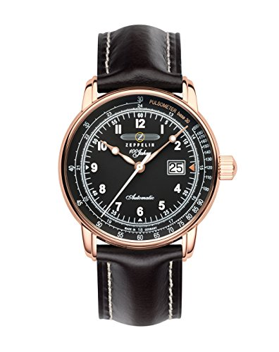Zeppelin Montre bracelet Mixte Chronographe Quartz Cuir 7654–2