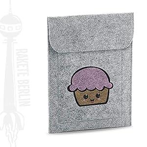 Tablet Filzhülle 'Muffin kawaii – gezeichnet'