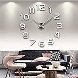 Edwin Clark DIY Large Wall Clock 3D Sticker Home Office Decor 3D Wall Clock (Covering Area:62*62cm)- AL002S