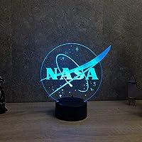 Lampe NASA personnalisable 16 couleurs RGB & télécommande - Fabriquée en France - Lampe de table - Lampe veilleuse - Lampe d'ambiance