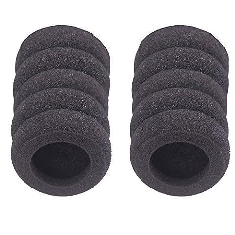Bingle Coussinets en mousse de rechange pour Plantronics Supra Plus encore et la plupart des casques Taille standard Bureau Téléphone H251H251N H261H261N H351H351N H361H361N (Lot de 10) (bec-fm10)