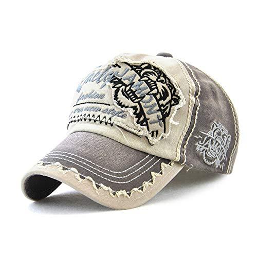 Herren Denim Bestickt (Huichao Bestickte Baseballkappe, lässige Sonnenhut für Damen und Herren,Gray)