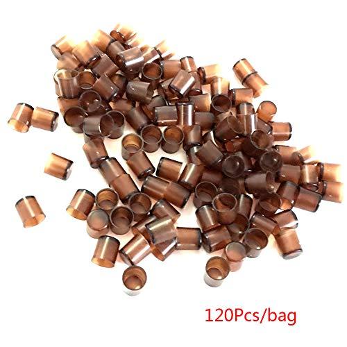 SADA72 Vaso de alimentación de Abejas, 120 Piezas, Apicultura, Reina, móvil, Color marrón, Herramientas de alimentación para apicultores, no tóxico, Equipo de alimentación de Abejas
