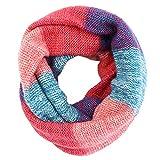 Hyde Loop Schlauchschal, Winter Warmer Strick Loop Schal, Herren-Schal und Damen-Schal (Pulverblau)