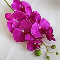 Babysbreath Seda artificiales phalaenopsis orquídea flor tallo ramillete fiesta decoración del jardín casero Púrpura