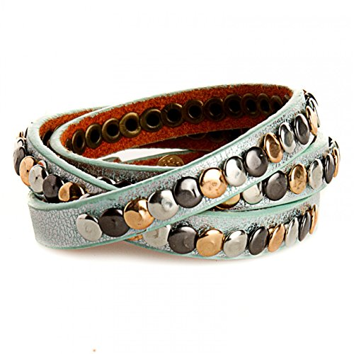 Caspar az304stile vintage, da donna con braccialetto, mint metallic, Taglia unica
