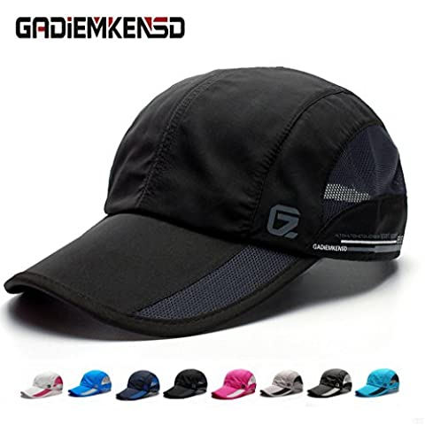 GADIEMKENSD Quick Dry Sports Hat Lightweight Breathable Soft Outdoor Run