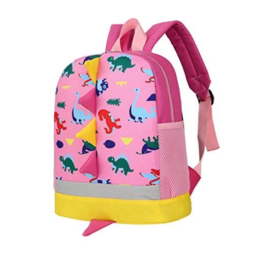 Lettera Ragazza Ragazzi Bambini Dinosauro Modello Animali Scuola Borsa Rosa