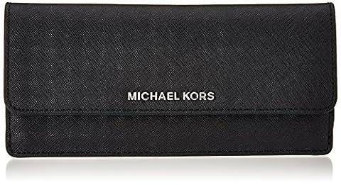 Michael Kors Damen Flat Geldbörse, Schwarz (Black), 2x9x20 cm