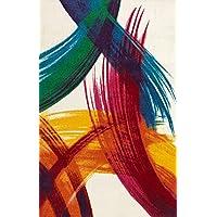 Merinos Halı PT002 Makine Halısı, Renkli, 120 cm x 170 cm