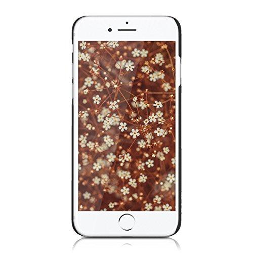 kwmobile Hülle für Apple iPhone 7 / 8 - Case Handy Schutzhülle Rosenholz auf Kunststoff - Hardcase Cover Indische Sonne Design Dunkelbraun Indische Sonne Dunkelbraun