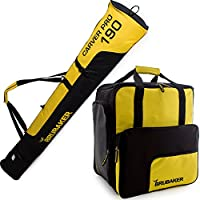 BRUBAKER Conjunto Super Function 2.0 Bolsa para botas y Casco de ski junto a