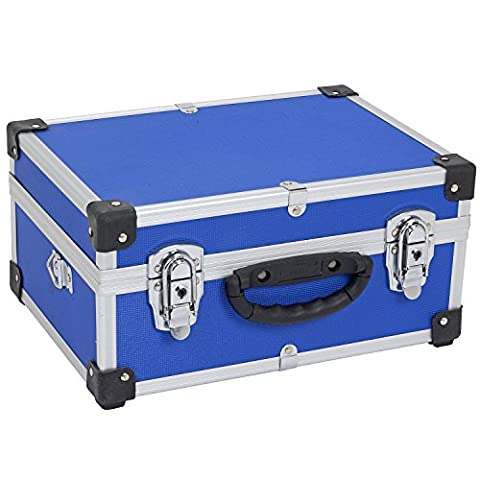 Allround tool box High-quality (aluminium / wood / rubber) case tools, measuring devices, cassettes, CD's, laptops, coins