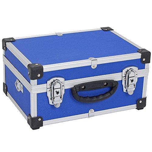 Alukoffer Aluminiumkiste Werkzeugkiste Sortimentskiste Aluminiumkoffer+Tragegurt
