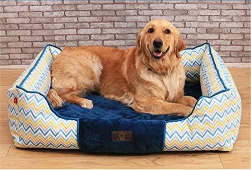 ZHAS Mode gedruckt Oxford Tuch Platz Hundebett Haustierbett Heimtierbedarf abnehmbare und reinigbaren Innenpolster kann umgedreht Werden Vier Jahreszeiten Universal weich und komfortabel, XL