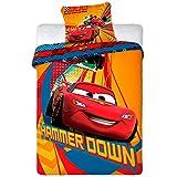 CARS Set Letto HAMMER DOWN Saetta McQueen COPRIPIUMINO 160x200cm + FEDERA 100% ORIGINALE Disney