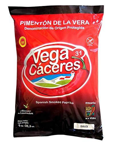 Pimentón de la Vera ahumado Dulce bolsa 1 kg con denominación de origen de la Vera