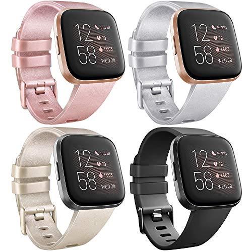 12 Colores Zekapu para Fitbit Versa Correa Bandas Repuesto Ajustable Pulsera TPU Sport Accesorio Pulsera para Fitbit Versa Peque/ño Grande