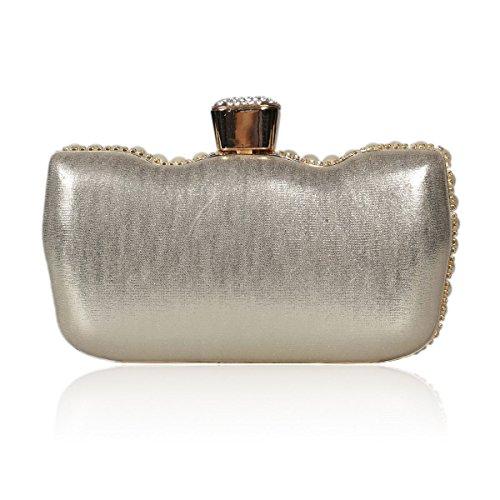 0129de9ff33af Damara® Quasten Perlen Glitzernd Strass Brandneu Damenhandtasche Silber