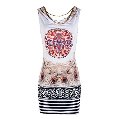 Mytom 2014 robe de plage pour l'impression d'été evenning vintage de partie de mini robe léopard robe pour les femmes de la robe sexy de club Café