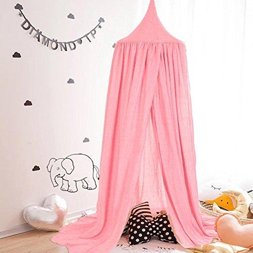 Preisvergleich Produktbild Bett Baldachin Baumwolle Leinwand Deko Bett Überdachung für Kinder Bettvorhang Moskitonetze Baldachin Bett im Zimmer (Hohe 240cm) by feierna