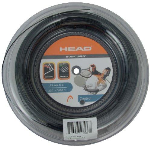 Head Sonic Pro 1,25 mm schwarz Polyester