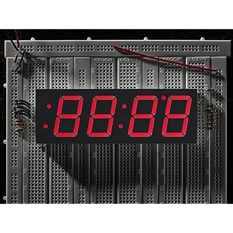 Red 7-segment clock display - 1.2